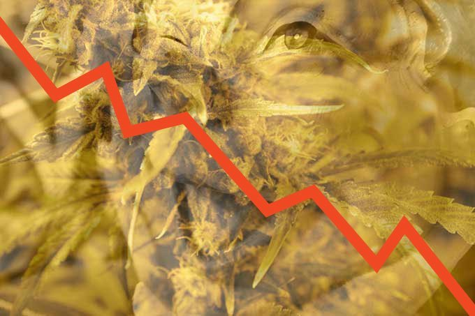 The stock market is plunging today, but two things are up: the price of gold, and weed use among seniors