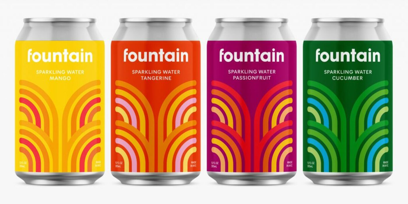 """Pentagram designs branding for CBD sparkling drink Fountain to """"stand out"""""""