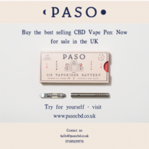 Buy the best selling Paso CBD Vape Pen: Now for sale in the UK