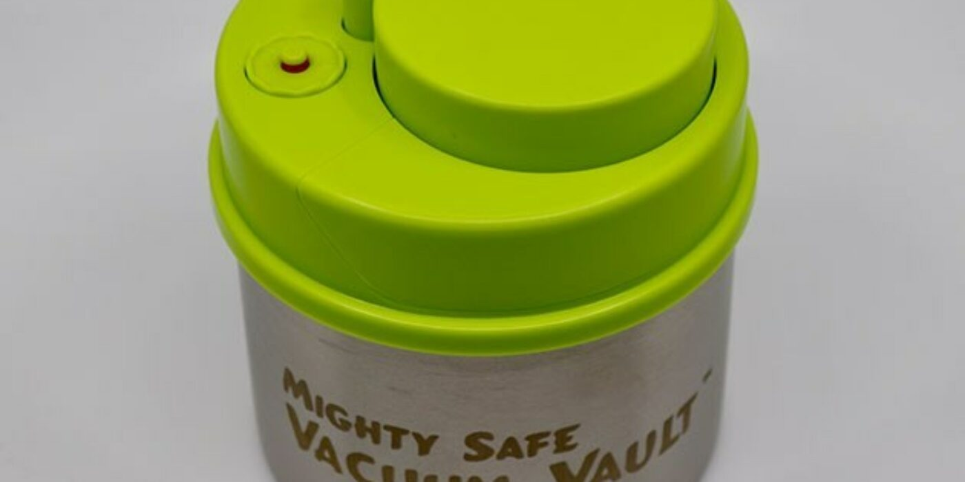 The Mighty Safe Vacuum Vault keeps your herbs and edibles fresh for as much as 15 days