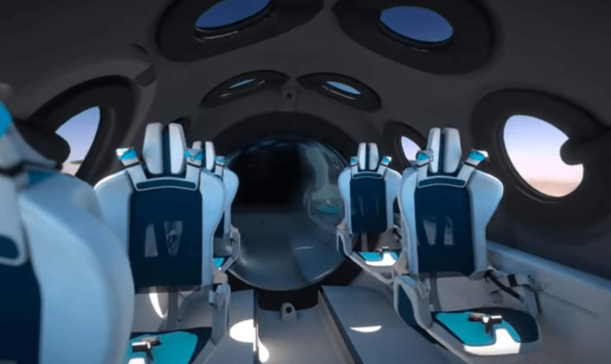 WATCH: Virgin Galactic spaceship new cabin style expose