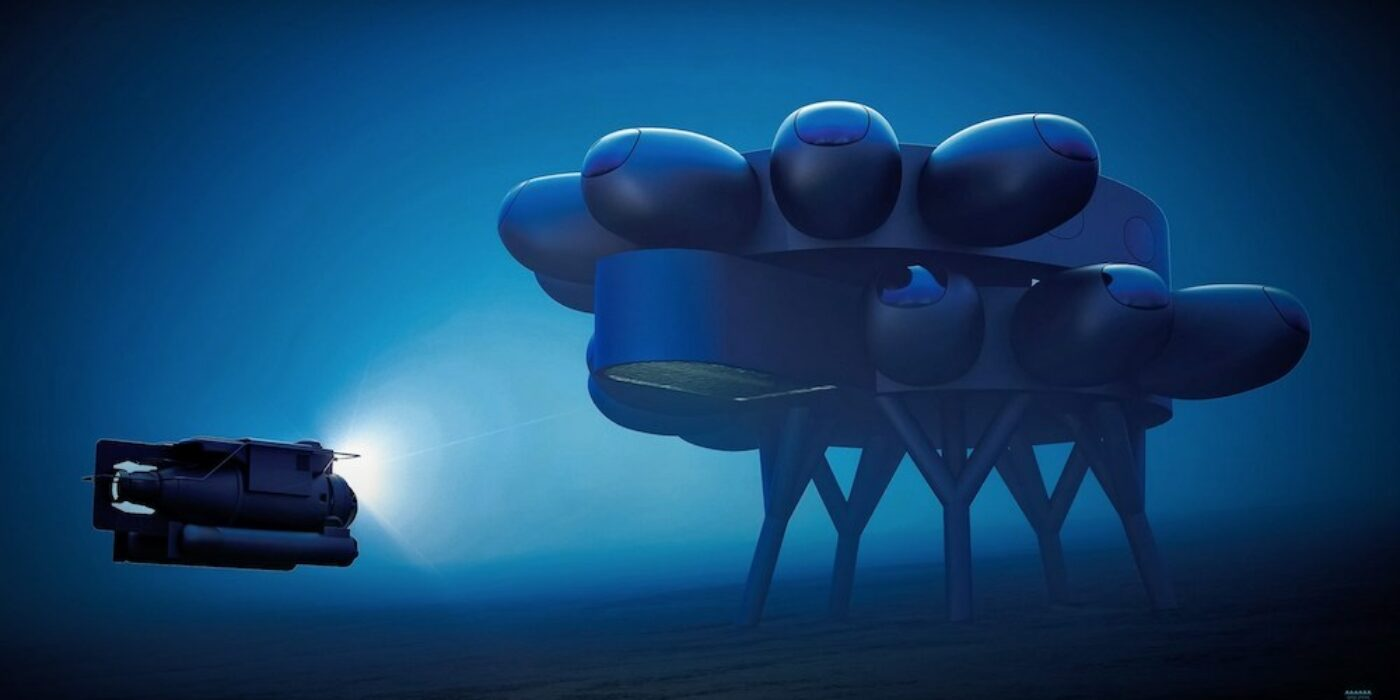 "Fabien Cousteau unveils style for undersea ""spaceport station"""